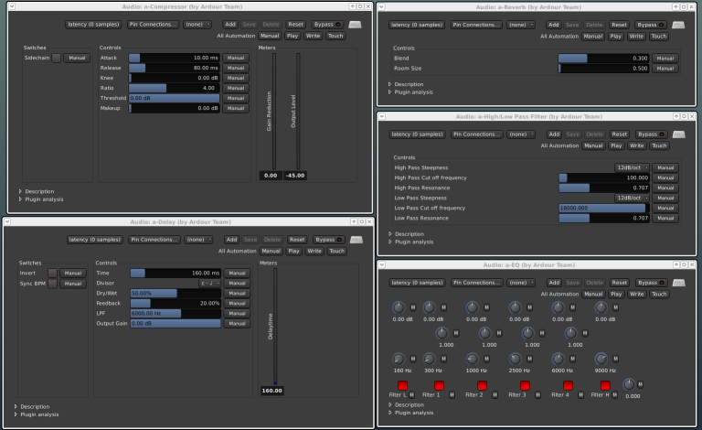 a screenshot showing the 5 a-* plugins